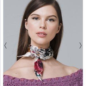 White House black market Silk mini scarf